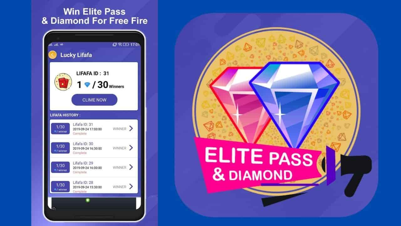 Win Elite Pass and Diamonds for Free Fire